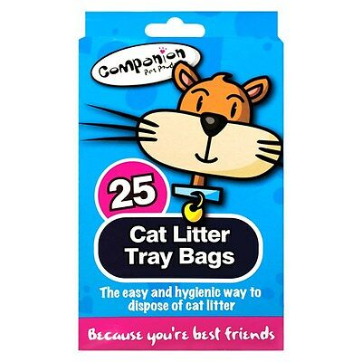 Cat Litter Liners Bags Disposable Pets Waste Disposal Hygienic & Easy - 25 Pack