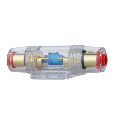 Clear Plastic Inline ANL 60A Audio Fuseholder for Auto Amplifier fuse tube