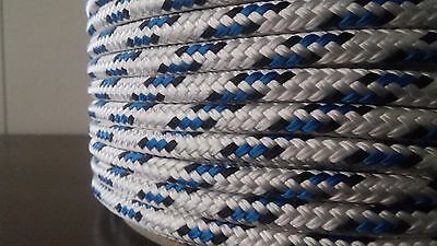 """1/4"""" x 300 ft. Double Braid~Yacht Braid polyester rope spools.Sailboat Line. US"""