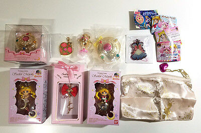 Sailor Moon TOY LOT - Gashapon Figure Charm Locket Pouch Twinkle Dolly Strap