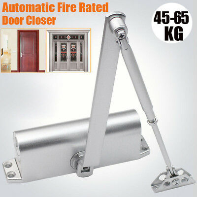 New 45-65KG Aluminum Commercial Door Closer Two Independent Valves Control Home