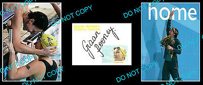 Giaan Rooney Aust Swimming Champ Signed Cover +2 Photos