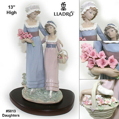 """NEW VERY RARE Limited Edition Retired Lladro 5013 """"Daughters"""""""