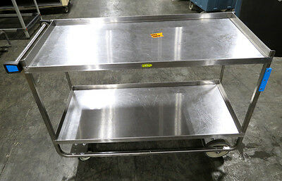"""Lakeside Heavy-Duty Utility Cart, 57"""" x 21"""", Catering Restaurant Food Serving"""