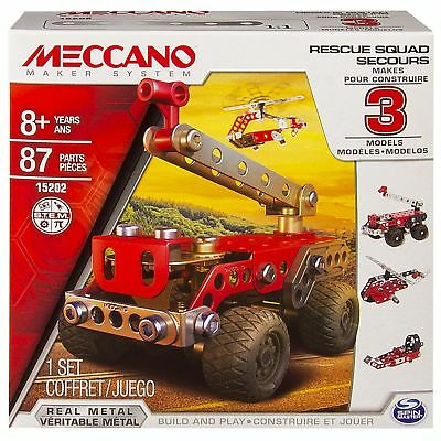 Meccano 15202 Rescue Force 3-in-1 Model Set 87 Piece Construction Kit