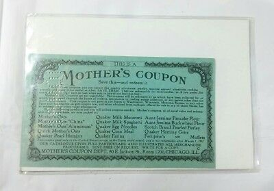 Mother's Coupon 1930s