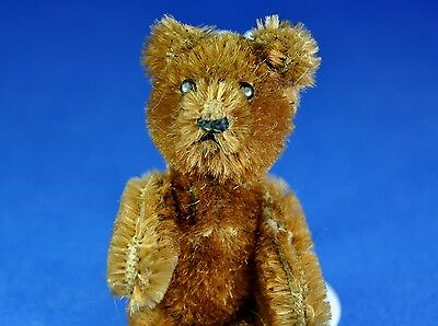 SCHUCO Miniatur Teddy Bär / Miniature Teddy Bear, braun / brown, 1955-1969, 9 cm