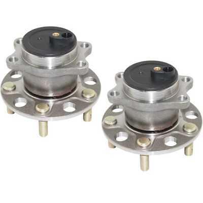Pair of Rear Left and Right Premium Wheel Hub Bearing Assemblies