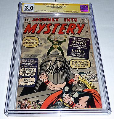 Journey Into Mystery #85 CGC SS STAN LEE 1st Appearance Loki Odin 3 App of Thor