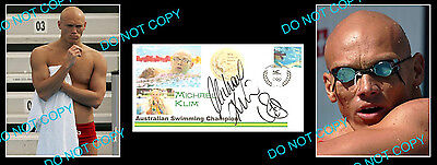 Michael Klim Olympic Gold Medal Signed Cover +2 Photos