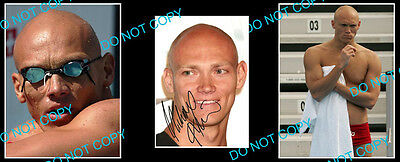 Michael Klim Australian Olympic Swimming Gold Medallist Signed Photo +2 Photos