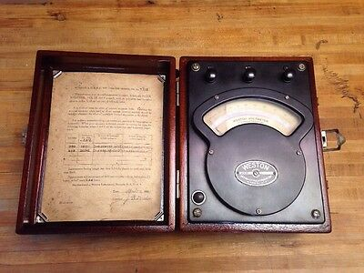 WESTON AC DC VOLTMETER Model 341 No 7772  1931
