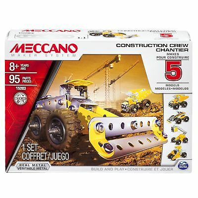 Meccano 15203 Construction Crew Model Set 5-in-1 Building Kit