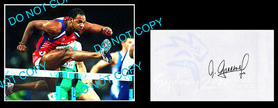 Anier Garcia Hurdles Olympic Gold Signed Cover +1 Photo