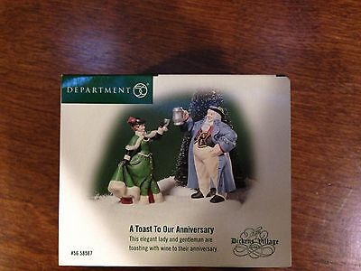 Dept 56  Dickens' Village Series Accessories A Toast To Our Anniversary