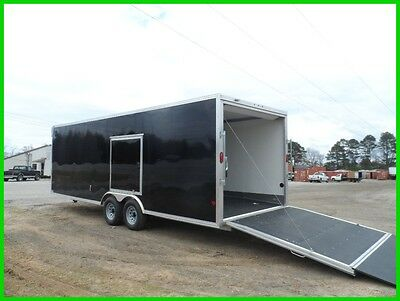 8.5x24 Black cargo enclosed car hauler motorcycle Aluminum trailer cabinets New