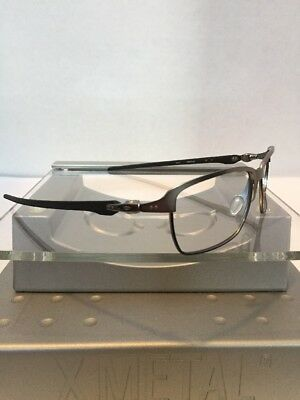 :-) Oakley Tinfoil Carbon Silver Frame Black Icons Fast Free S/H :-)