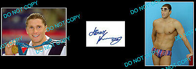 Lenny Krayzelburg Olympic Swimming Gold Signed +2Photos