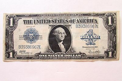 One United States Large Size 1923 One Dollar Silver Certificate Currency Note