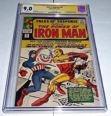Tales of Suspense #58 CGC SS 9.0 Signature STAN LEE Captain America vs Iron Man