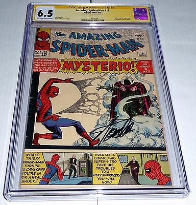 Amazing Spider-Man #13 CGC SS Signature STAN LEE Origin 1st Appearance Mysterio