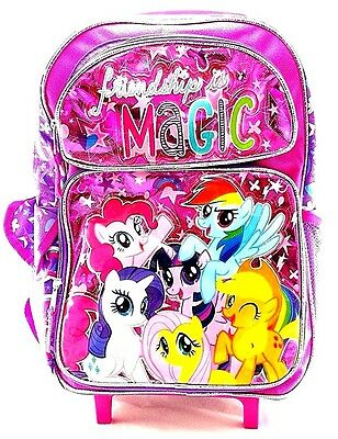 "Hasbro My Little Pony Girls 16"" School Rolling Backpack Friendship is Magic-Pink"