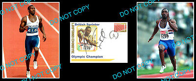 LINFORD CHRISTIE OLYMPIC 100m GREAT SIGNED Cv +2 PHOTOS