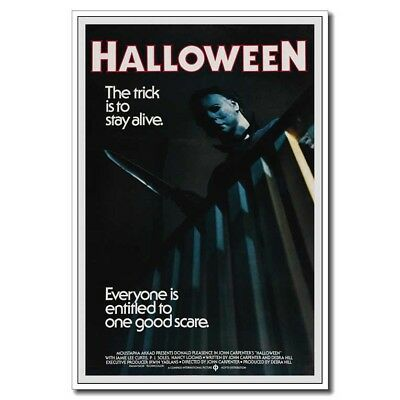"""Halloween Michael Myers With Knife 24""""x36"""" Horror Movie Silk Poster"""