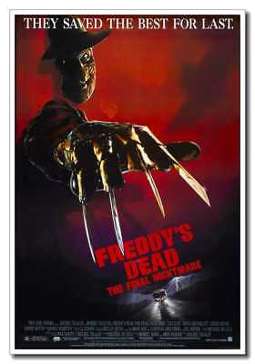 """A Nightmare on Elm Street 24/""""x32/"""" Old Horror Movie Silk Poster Wall Decoration"""