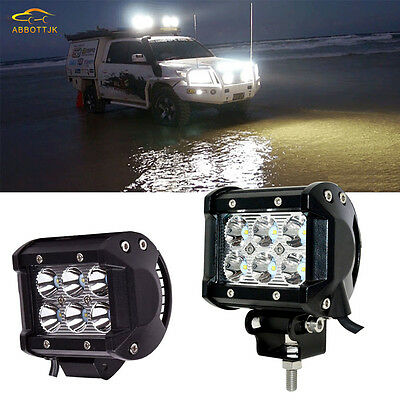 Pair 4Inch Spot Beam Led Work Light Bar Pods for 1999-2016 Ford E/F offroad UTV