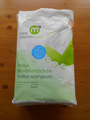 medi cleanies care °° Einmal-Waschhandschuhe °° Molton °° Baby