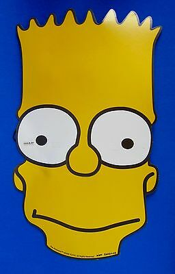 Large BART SIMPSONS MASK Cardboard the SIMPSONS 10th Anniversary Promo INKWELL