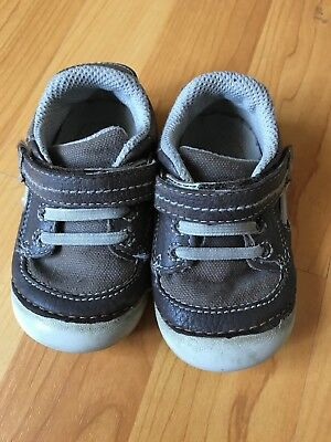Toddler Boys Stride Rite Brown Leather Shoes Dawson Size 4.5w