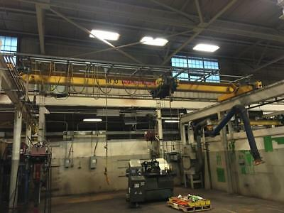 5 Ton R&M Top Running Single Girder Overhead Bridge Crane 26' Span, New 2010 (2)