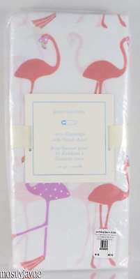 Pottery Barn Kids - Coco Flamingo Crib Fitted Sheet - Tropical Beach NWT