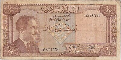 JORDAN BANKNOTE 13b ½ DINAR SIG 12 A VERY GOOD-FINE USA SELLER