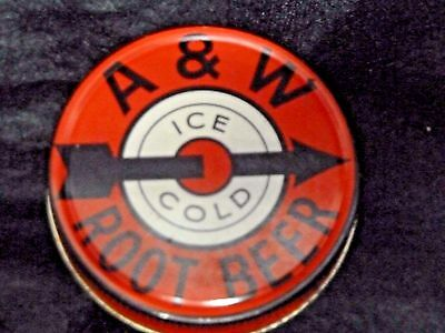 A&W Root Beer Jar Lid from the 1950s - Metal Screw-top lid fit canning jars