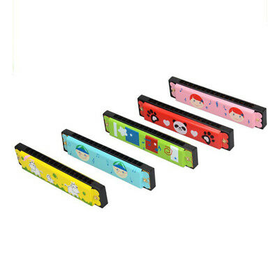 Kids Metal Cartoon 16 Holes Harmonica Mouth Organ Musical Instruments Toy Gift