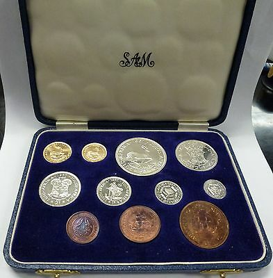 {BJSTAMPS} 1957 South AFRICA  Proof Set 11 Coin .35 oz Gold only 380 MINTED key