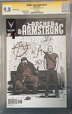Archer and Armstrong #1 CGC SS 9.8 - 1:20 variant signed Clayton Henry - movie