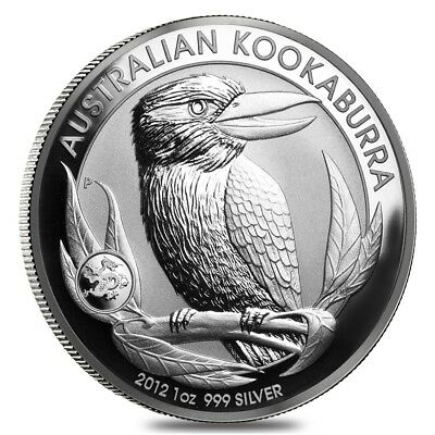 2012 1 oz Silver Australian Kookaburra Dragon Privy Perth Mint .999 Fine BU In C