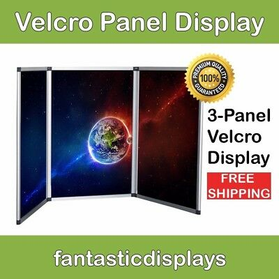 3 Panel Folding Trade Show Backdrop Booth Banner Exhibit Display Board