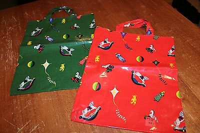 Harrods Child's Tote Bags / Coated Cotton / Made in England / Lot of 2