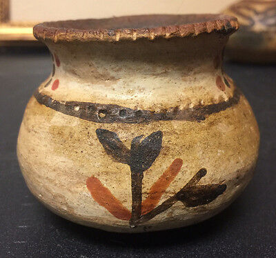 Antique Native American Indian Pottery Jar Vase with designs IV
