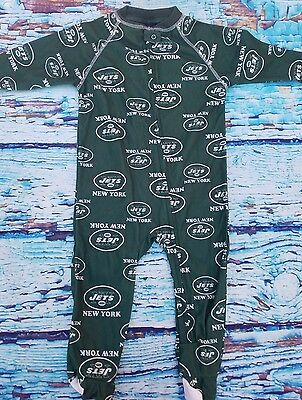 NY Jets Toddler Sleeper Footed Pajamas NWT SZ 24M Football