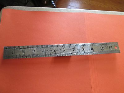 VINTAGE THE LUFKIN RULE CO. No.62 12 Inch Steel Rule With Inch Graduation.  USA