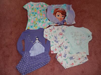 Lot Toddler Girl Fall Winter Pajamas Nightgown Size 5T
