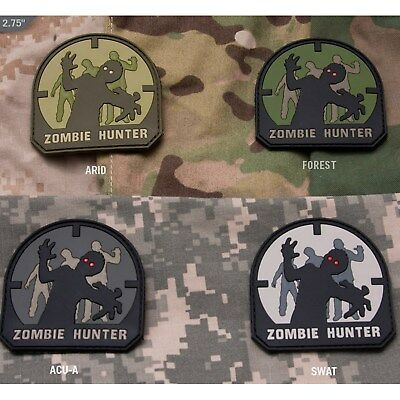 Mil-Spec Monkey Zombie Hunter PVC Tactical Morale Hook and Loop Patch