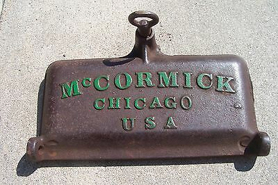 Vintage Cast Iron McCormick Chicago USA Implement Tool Box Lid