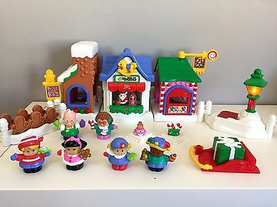 RARE Fisher Price Little People Christmas on Main Street